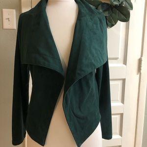 Faux Suede Green Jacket